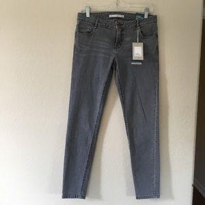 NEW ZARA Trafaluc Denim Cropped Skinny Jeans